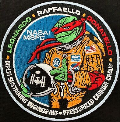 """RARE- AUTHENTIC NASA NINJA TURTLES ISS SPACE MISSION PATCH- 3.5"""" Diameter"""