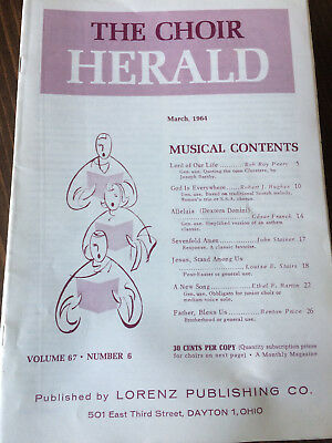 The Choir Herald - March 1964 - 22 Copies