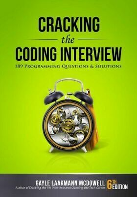 Cracking The Coding Interview 189 Programming Questions 6th Edition Paperback