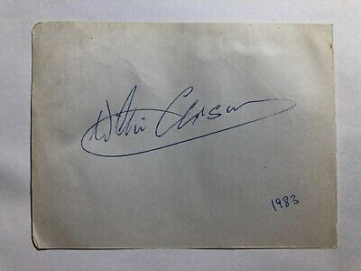 Signed Jockey Willie Carson & George Segal Actor Autograph Book Page +Provenance