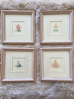 Bunnykins Framed Pictures Series 535 Royal Doulton x 4