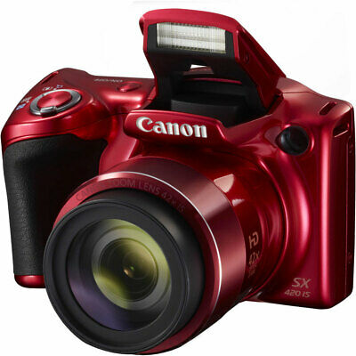 Canon PowerShot SX420 IS 20MP Digital Camera Red With 42x Optical Zoom and WiFi