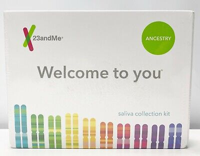 23andMe Personal Genetic Ancestry DNA Kit Saliva Collection Kit Sealed 05/2021+