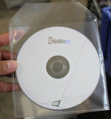 1000 CD DVD CPP Clear Plastic Sleeve with Flap Stitching on Borders 90 Microns