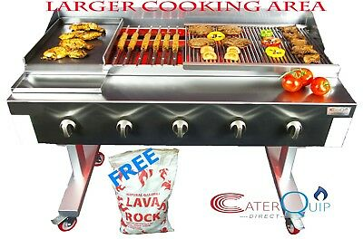 5 Burner Gas Charcoal Char Grill Bbq Heavy Duty For Commercial Use