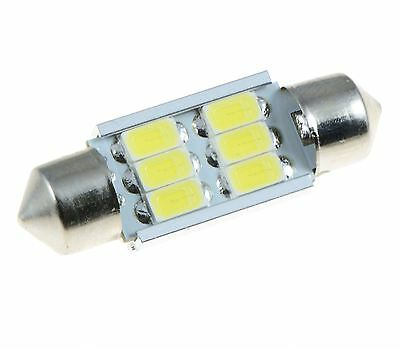 Weiß 36mm Samsung 6SMD 5630 Canbus Festoon LED Lampe