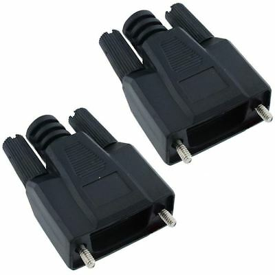 2 x 9-Way Screwlock D Connector Hood Cover