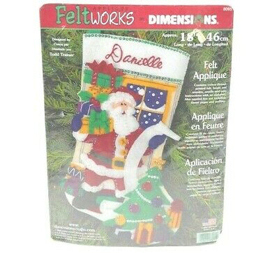 Applique Feltworks Dimensions Santa Stocking 2001 #8095 Christmas Presents 18 in