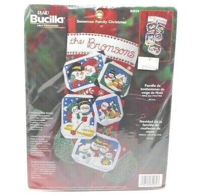 Bucilla Felt Stocking Snowman Family Christmas #84939 18