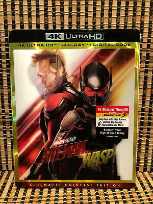 Ant-Man And The Wasp 4K (2-Disc Blu-ray, 2018)+3D Slipcover.Avenger/Marvel.Part