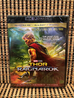 Thor 3: Ragnarok 4K (2-Disc Blu-ray, 2018)Marvel Avenger/Hulk.Chris Hemsworth