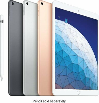 """Apple iPad Air 64GB 10.5"""" (Wi-Fi, Newest Version, 2019) Space Gray, Gold, Silver"""