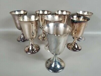 F.B. Rogers Silver Co. Silverplate Goblets Cups Set of 8