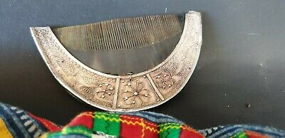 Old Timor Tortoise Shell Comb with Silver Handle (a) …beautiful collection piece