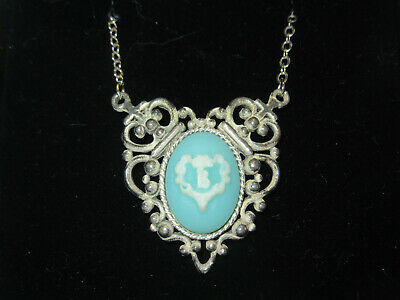 Baby The Stars Shine Bright BTSSB Cameo Necklace Silver Blue w/ Box Japan