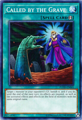 1x - Called by the Grave - FLOD-EN065 - Common - Unlimited Edition NM YuGiOh!  F