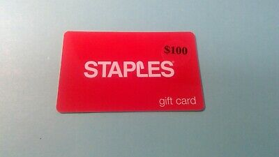 Staples Gift Card 2 X $100.00 Unused Unscratched $200 Free Shipping Total $200