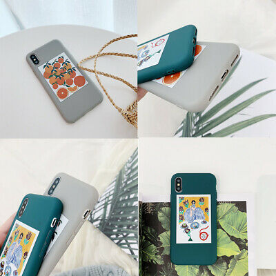 Fashion Oil Painting Style Pattern Shockproof Soft TPU Phone Case For iPhone Lot