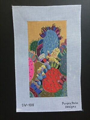 Purple Palm Designs Hand-painted Needlepoint Canvas Colorful Desert Gems/$210 RT