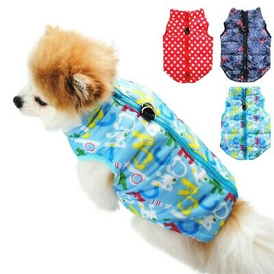 Winter Warm Padded Dog Clothes Waterproof Pet Coats Vest Jacket for Dogs
