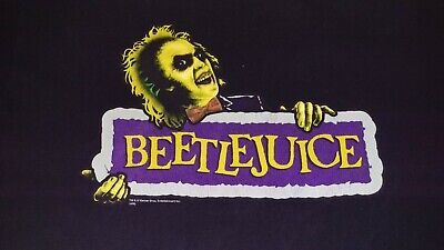 Beetlejuice Movie Film Promo Shirt Size XL Michael Keaton Tim Burton Halloween
