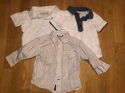 Lot of 3 Toddler Boy Collared Short & Long Sleeve Shirts - Size 12-18 Months