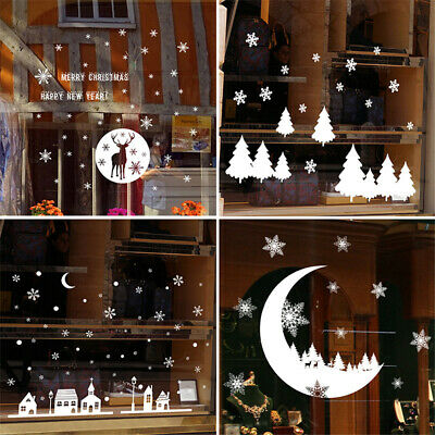 Merry Christmas PVC Art Home Window Store Wall Stickers Decal Decor Removable
