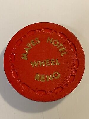 MAPES HOTEL ROULETTE Casino Chip RENO Nevada 3.99 Shipping