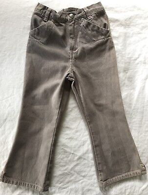 Baby GAP Girls Gray Grey Denim Jeans with Pink Stitching Size 4
