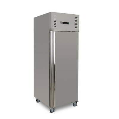 Upright Commercial Fridge 600 Litre Embraco Compressor Stainless Steel
