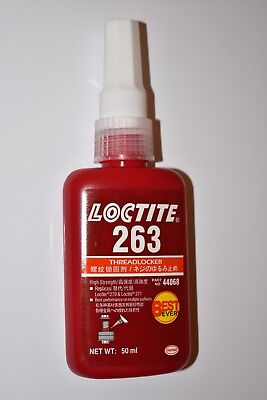 1pcs FOR Loctite 263 Red High Strength Threadlocker Adhesive 50ML