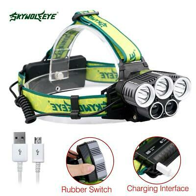 90000LM Zoomable LED Headlamp Rechargeable Headlight CREE XML T6 Head Torch AC