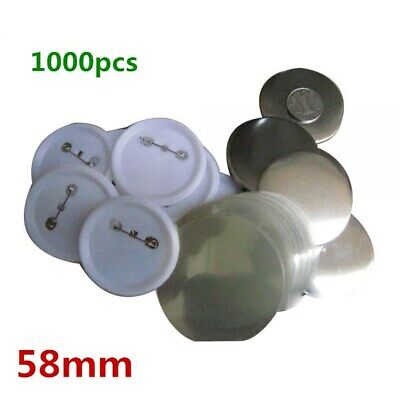 58mm Blank Pin Badge Button Supplies for Badge Maker Machine 1000pcs