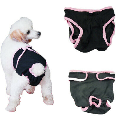 Reusable Female Dog Diapers Nappy Sanitary Pant Washable Pet Belly Wraps XS-XL