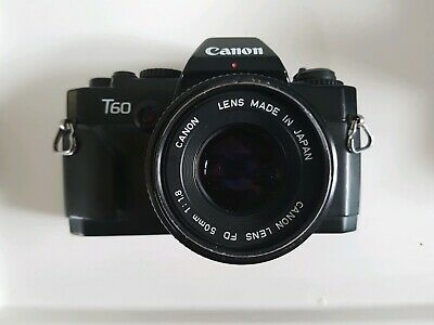 Canon T60 with 50mm f/1.8 Lens *read*