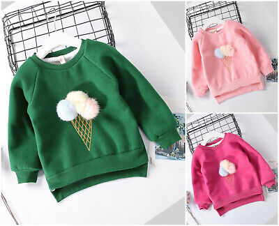 Girls Top Autumn Long Sleeve Sweater Winter School Casual Thick Warm Age 2-7 yr