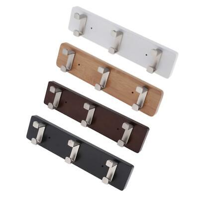 Bamboo Wall Mounted Hooks Polished Coat Towel Rac Modern Door Hanger