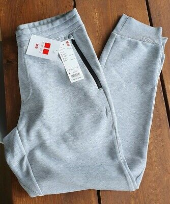 Mens Uniqlo Dry Stretch Sweat Pants Grey - Medium