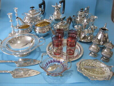 Very Nice Large Job Lot Ornate Antique & Vintage Silver Plated Items & Cutlery