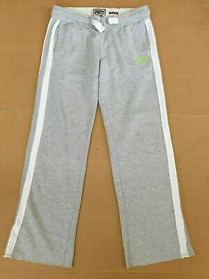Mens Superdry Light Grey Hockey Jogger Sweatpants Uk Medium W32-33 L32