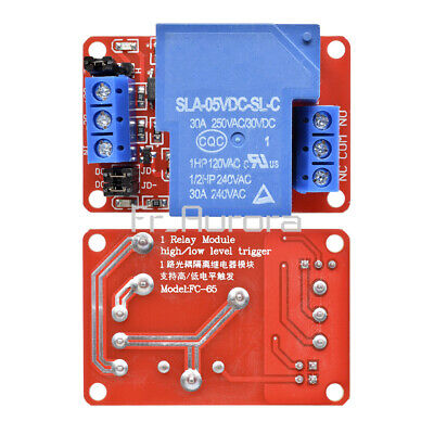 5V 30A 1 Channel Relay Module Board With Optocoupler H/L Level Triger