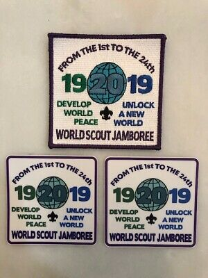 2019 World Scout Jamboree *LIMITED EDITION* Patch 1920/2019 w/ BONUS 2 stickers!