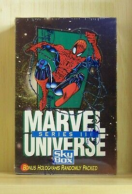 1992 Marvel Universe series III sealed trading card box. Impel Skybox