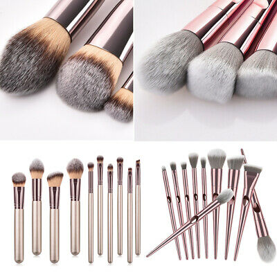10pcs Make Up Brushes Set Professional Blusher Eyeshadow Face Powder Foundation