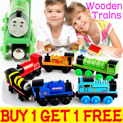 The Tank Engine Tender Wooden Magnetic Railway Train Toy Truck Car Kids Gift UK