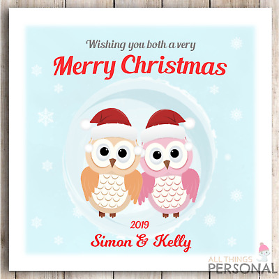 Personalised Christmas Card To Couple Daughter Son In Law Mum Dad Brother Sister