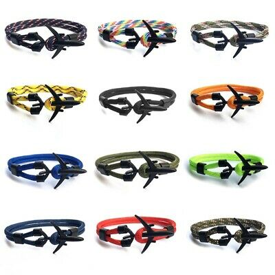 Airport Fashion Men Women Airplane Anchor Bracelets Plsei