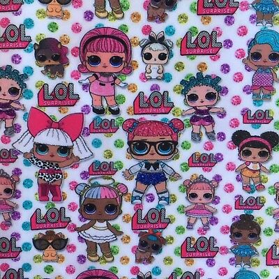 Offcut Lol Surprise Doll Pets Diva  Polycotton  Fabric Girls Character