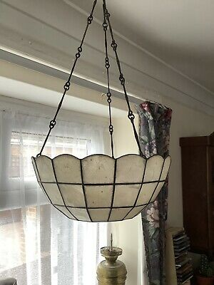 Art Nouveau, Tiffany Style, Lamp Shade, Three Hanging Chains