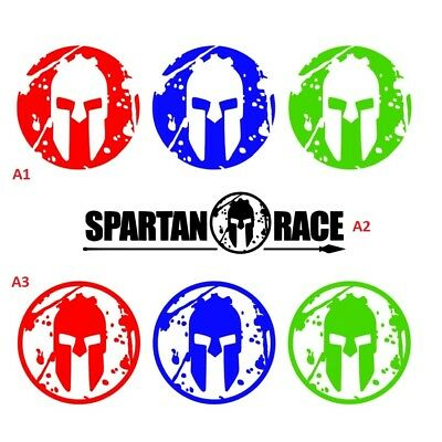PEGATINA VINILO SPARTAN RACE TRIFECTA Set of 3 Vinyl decal stickers